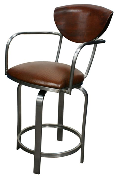 Stainless Steel Bar Stools Swivel by Tobias Designs 511 Swivel Stainless Steel Barstool