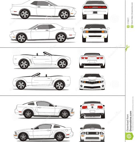 vehicle templates car outline template stock vector image 17730577