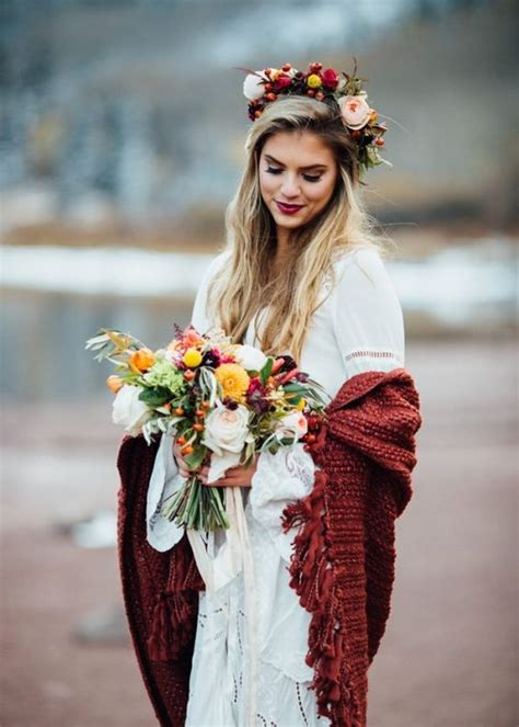 Hochzeitsfrisur Winter by 27 Boho Chic Winter Hochzeit Ideen 187 Hochzeitkleid