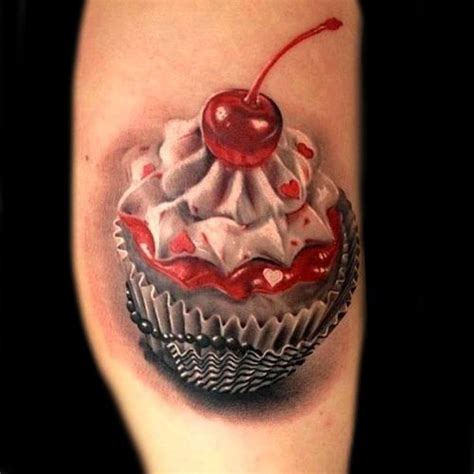 muffin tattoo photo realistic cupcake cupcake tattoos