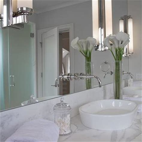 Double Console Sink Cottage Bathroom Vicente Burin | mirrored washstand contemporary bathroom blake shaw
