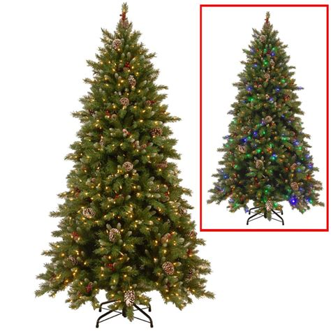 how to connect led lights on christmas tree national tree company 6 5 ft powerconnect snowy berry artificial tree with dual color