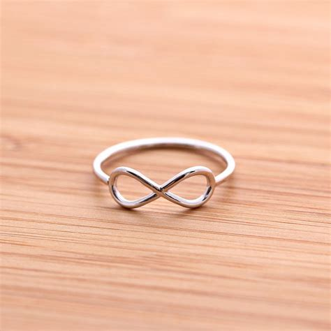 simple infinity ring in silver from bythecoco epic