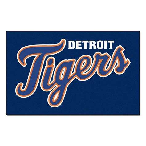 fanmats detroit tigers 5 ft x 8 ft ulti mat 6383 the