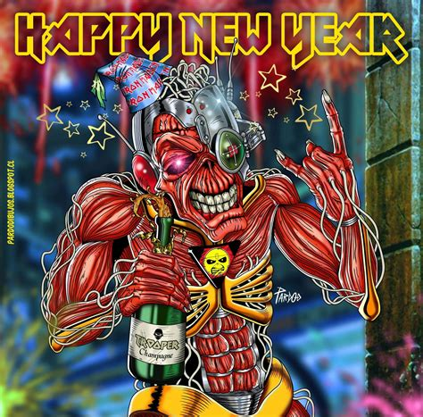 new year metal pardo dibujos iron maiden happy new year