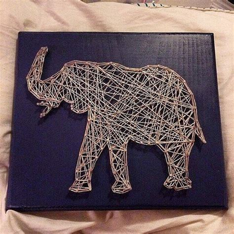Elephant String - elephant string sign by stringsbysamantha on etsy