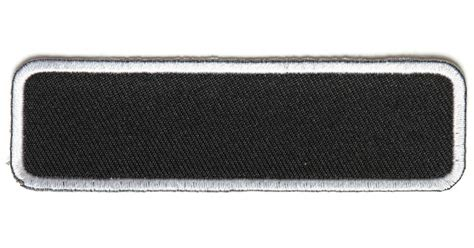 Black Tag White Patch Army Ready Stock blank name tag patch white border blank patches thecheapplace