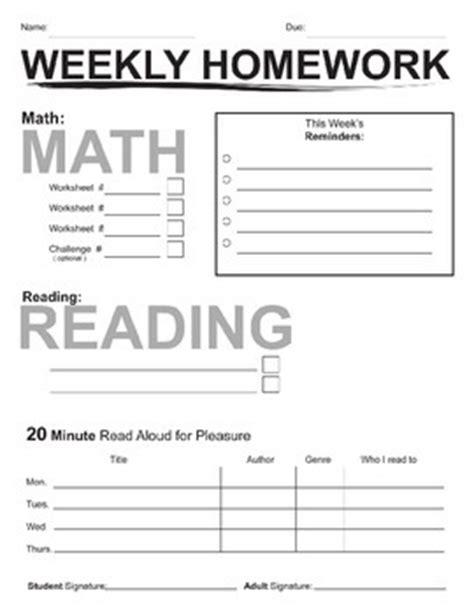 Homework Cover Sheet by Weekly Homework Packet Cover Sheet Www Iuke Eu
