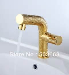 gold color finish single handle brass basin mixer tap