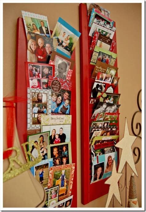 how to display christmas cards 11 diy christmas card holders tip junkie