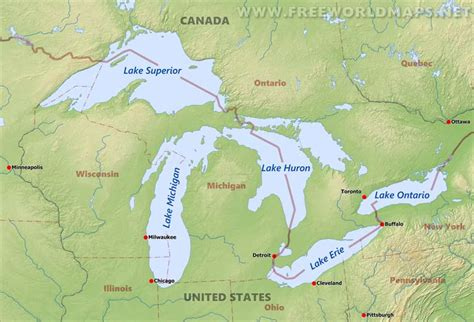 us map states great lakes pin five world maps showing different projections in 2011