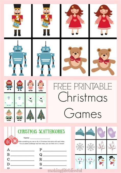 free printable christmas memory games making life blissful