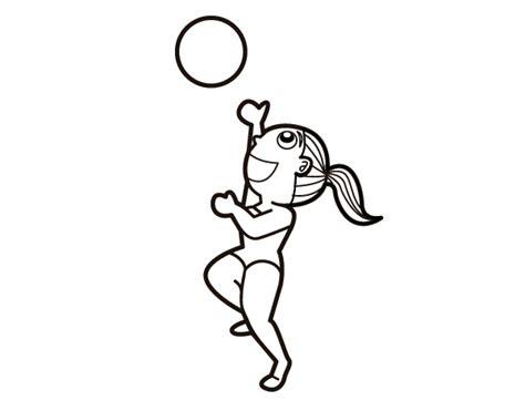 imagenes de voleibol para dibujar faciles dibujo de v 243 ley playa para colorear dibujos net