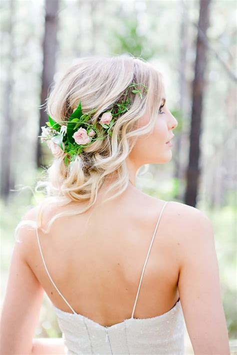 Wedding Hair With Roses by Woodland Wedding Inspiration The Wedding Playbook