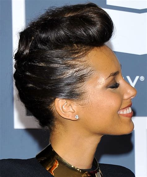 alicia keys updo curly formal hairstyle dark brunette mocha the beautiful alicia keys to open worldcup 2010
