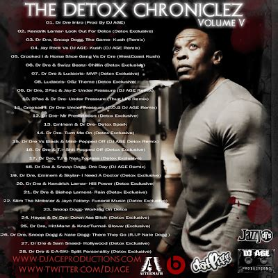 Detox Chroniclez Vol 1 by Dr Dre The Detox Chroniclez Vol 5 2011 New
