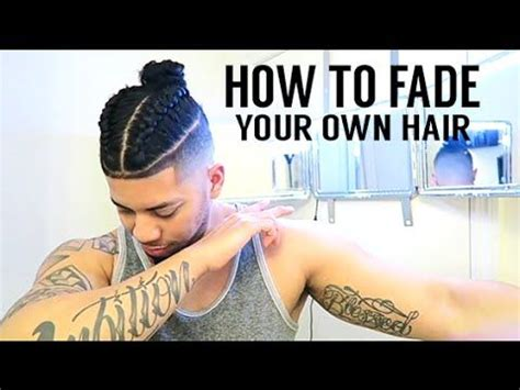 how to braid your own hair youtube how to fade your own hair samurai braided top knot