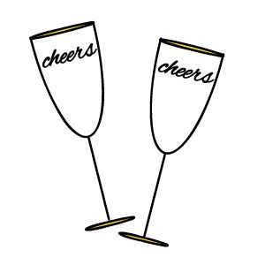 cartoon wine glass cheers free new years clipart pictures fireworks chagne signs