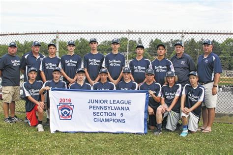 section 5 little league dallas post back mountain national wins section 5 junior