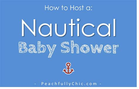 Kitchen Decorations Ideas Theme nautical baby shower ideas peachfully chic