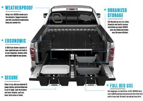 truck bed drawer system 2015 2018 f150 decked truck bed sliding storage system 5 5ft bed dekdf4
