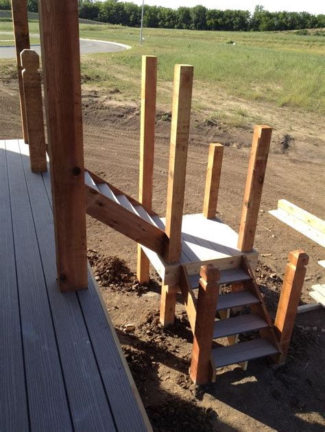 Building Stairs With A Landing building deck stairs and landing 187 design and ideas