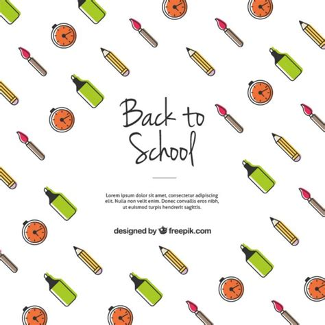 Back To School Template Vector Free Download Back To School Template Free