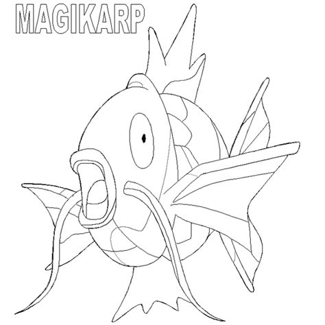 pokemon coloring pages magikarp pok 233 mon para colorir pra colorir e rabiscar