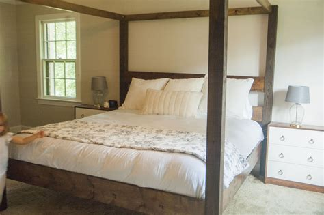 Diy Canopy Bed Frame White Minimalist Rustic King Canopy Bed Diy Projects