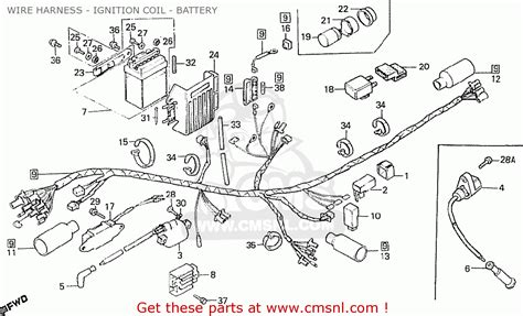 honda mbx50swdf belgium wire harness ignition coil