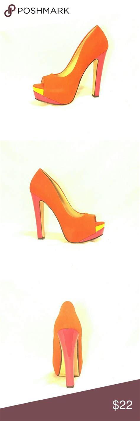 Orange Wedges By C Boutique 17 best ideas about orange high heels on how