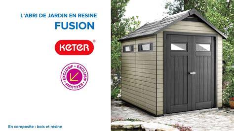 abri de jardin castorama resine abri de jardin en r 233 sine fusion 759 keter 676227 castorama