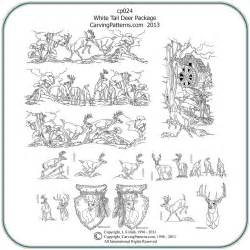 white tail deer patterns classic carving patterns