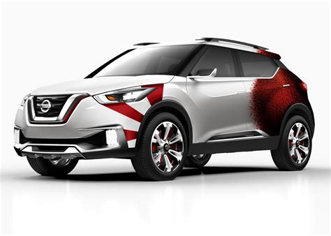nissan kicks 2016 nissan kicks concept given a carnival paint scheme in