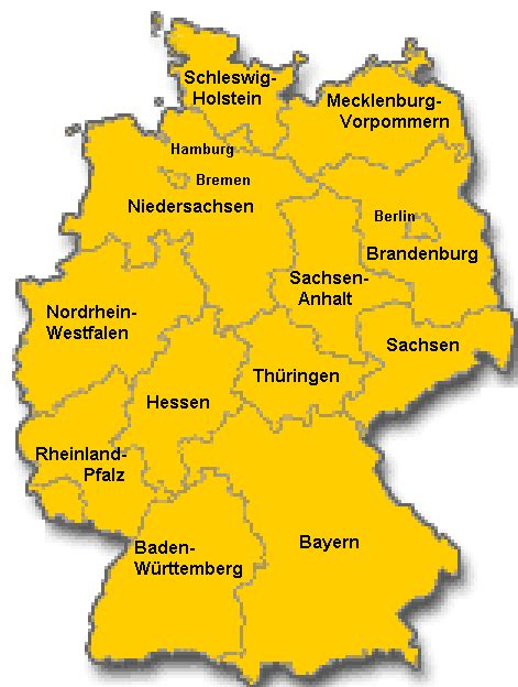 germany map states germany map german states germany
