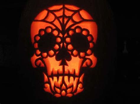 raven s dia de los muertos pumpkin carving crafty
