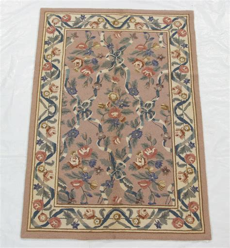 hooked lattice carpet 4x6 pink rug 29391