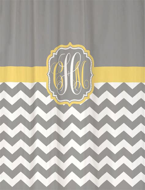 gray chevron shower curtains shower curtain cool gray half chevron with butter yellow
