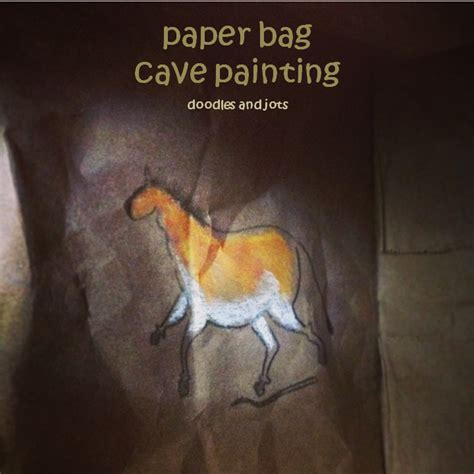 the cacouna caves and the mural books paper bag cave painting activity for picture book the