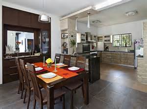 kitchen dining area ideas dining area open kitchen with wooden furniture design by interior designer and hana