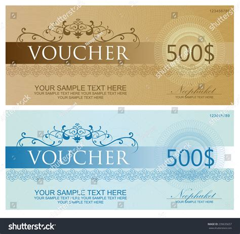 voucher coupon gift certificate ticket template