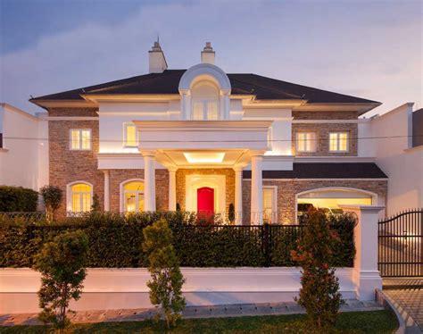 photo front view rumah tinggal permata hijau  desain