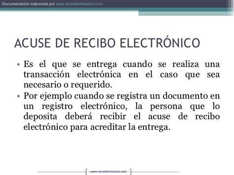 acuse de recibo digital firma digital y e administracion