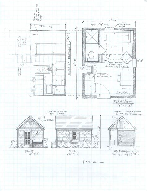 micro cottage floor plans diy guest cabin plan plans free