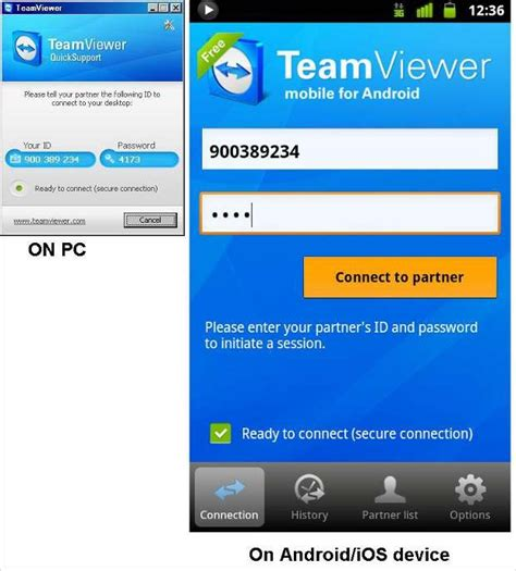 connect android to pc how to connect computer with android phone through teamviewer