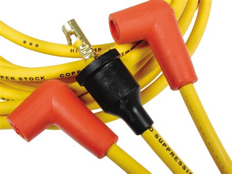 resistor spark yellow bullet accel 4039 spark wire set 8mm yellow with orange boots