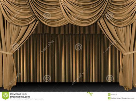 Rideaux De Théâtre Images by 201 De Th 233 226 Tre D Or Drap 233 E Avec Des Rideaux Photo Stock