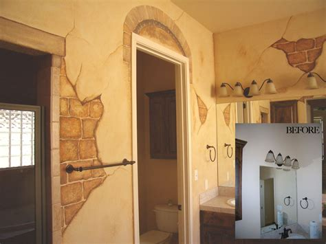 wall treatments faux brick painting crafts