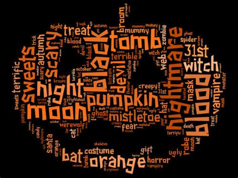 horror words list words scary website