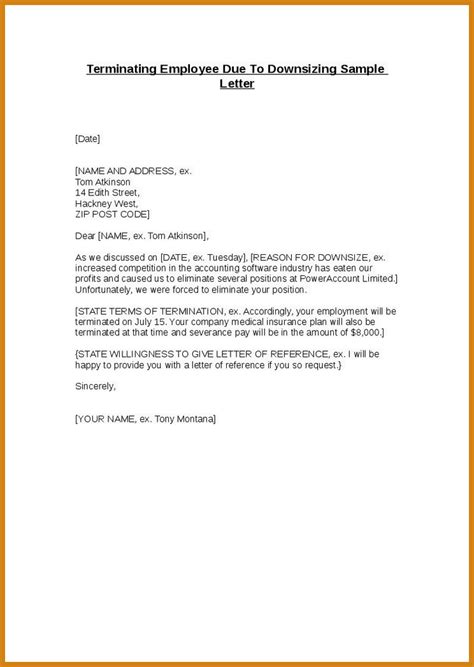 termination letter format for stealing employment termination letter letter format template